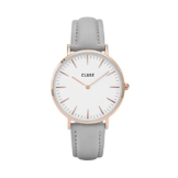 Cluse Damen-Armbanduhr Analog Quarz Leder CL18015 -