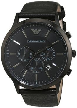 Emporio Armani Herren-Armbanduhr XL Chronograph Quarz Leder AR2461 -