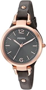 Fossil Damen-Armbanduhr Analog Quarz Leder ES3077 -