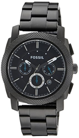 Fossil Herren-Armbanduhr Chronograph Dress FS4552 Black IP -