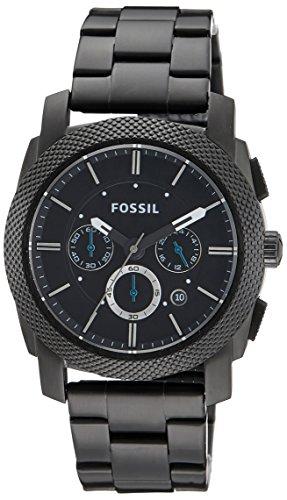 Fossil Herren-Armbanduhr Chronograph Dress FS4552 Black IP -