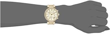 Michael Kors Damen-Armbanduhr Parker Chronograph Quarz golfarbener Edelstahl MK5354 -