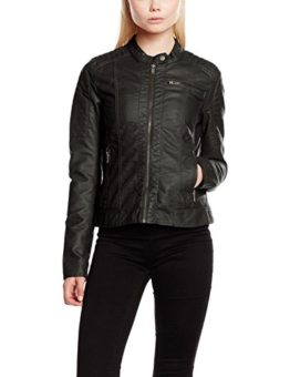 ONLY Damen Jacke Onlnew Start Faux Leather Jacket CC Otw, Schwarz (Black), 36 -