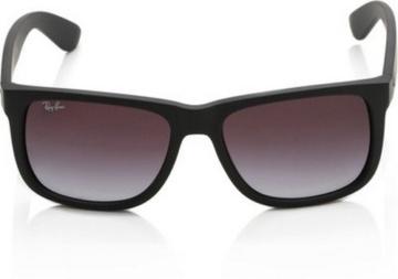 Ray-Ban Unisex - Erwachsene Sonnenbrille Justin, Gr. Large (Herstellergröße: 54), Black (6One Size/8G Black) -