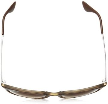 Ray Ban Unisex Sonnenbrille Erika Classic, Mehrfarbig (Gestell: Havana/Gunmetal, Gläser: Braun Verlauf 865/13), 54 mm -