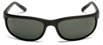 Ray Ban Unisex Sonnenbrille Predator 2, Gr. X-Large (Herstellergröße: 62), Schwarz (Gestell: Schwarz, Gläser: Grün Klassisch W1847) -