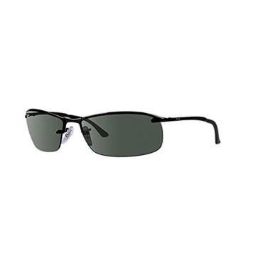 Ray Ban Unisex Sonnenbrille Top Bar, Gr. Large (Herstellergröße: 63), Schwarz (Gestell: schwarz, Gläserfarbe: grün klassisch 006/71) -