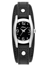 s.Oliver Damen-Armbanduhr Analog Quarz Leder SO-3100-LQ -