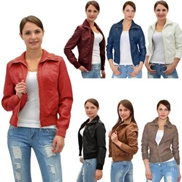Damen Lederjacke Damen Collegejacke Damen Jacke - Lederimitat in 25 Farben M08 -