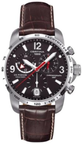 Certina Herren-Armbanduhr XL Chronograph Quarz Leder C001.639.16.057.00 -
