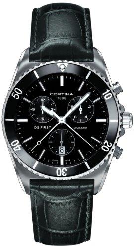 Certina Herren-Armbanduhr XL Chronograph Quarz Leder C014.417.16.051.00 -