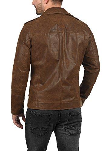 SOLID Mash Herren Lederjacke Echtleder Bikerjacke mit zahlreichen Metall-Details aus 100% Leder -